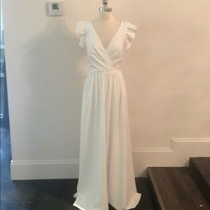 Theia Ivory Dress